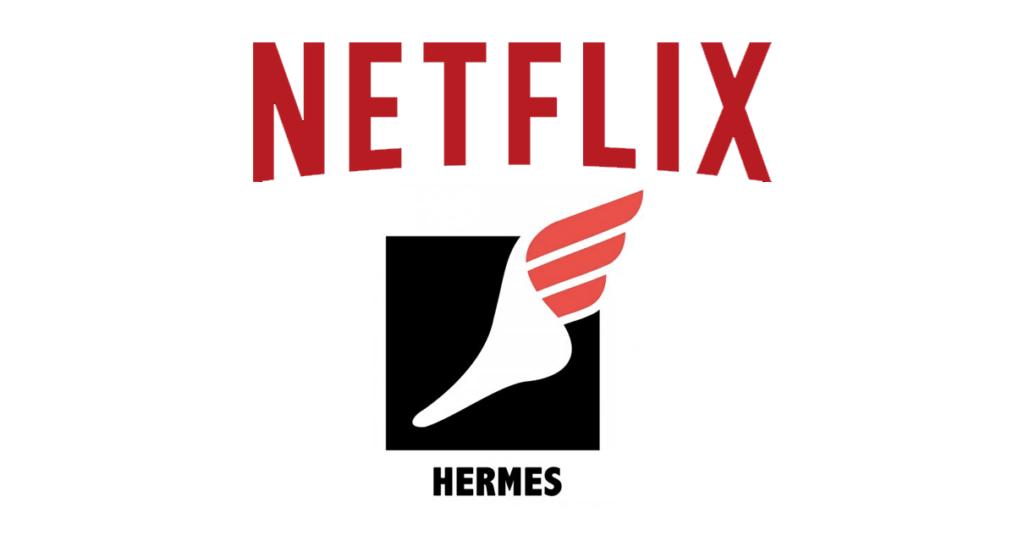 Il logo di Hermes, il portale per la traduzione di Netflix